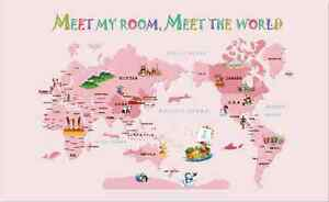 3d dream pink cute world map wall paper wall print decal wall deco 3d dream pink cute world map wall paper wall print decal wall deco aj wallpaper gumiabroncs Choice Image
