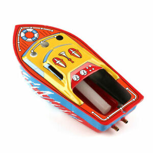 Creative-Recycled-Put-Steam-Boat-Candle-Engine-Powered-Working-Tin-Toy