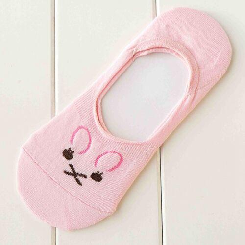 1 Pair Women Cotton  Loafer  Invisible  Boat  Non-Slip Low Cut No Show Socks EC