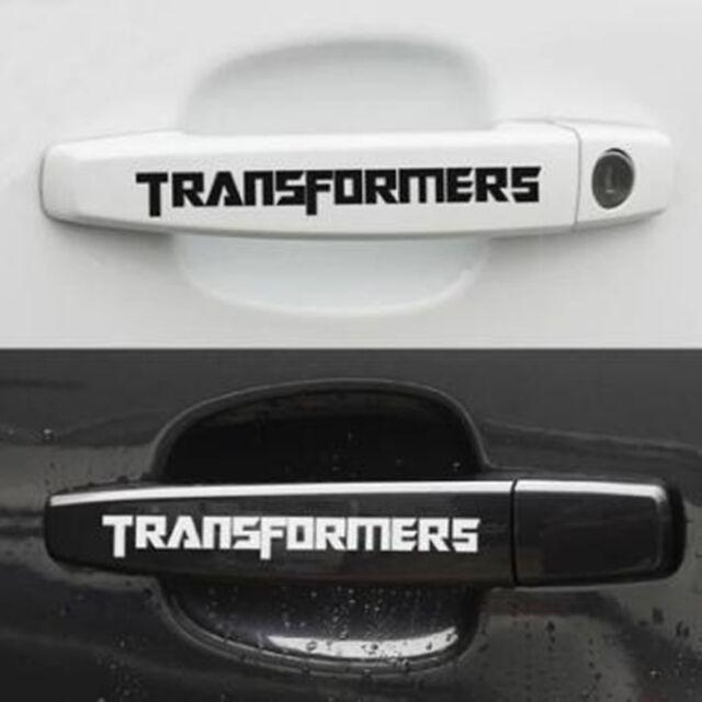 4pcs/Set Transformers Car Door Handle Stickers Auto Car Emblem Decal Accessories