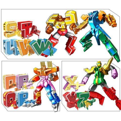 26pcs English Letter Deformation Alphabet Transformation Robots Puzzle Kids Toys