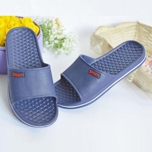 Men Slippers Indoor Home Shoes Bathroom Shower Sandals Summer Beach Slides 2019