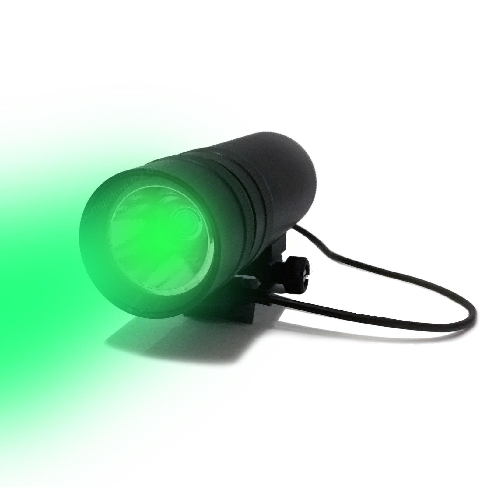 Zenit FOT-2C Weaver Mount Tactical Flashlight. White Green Light.