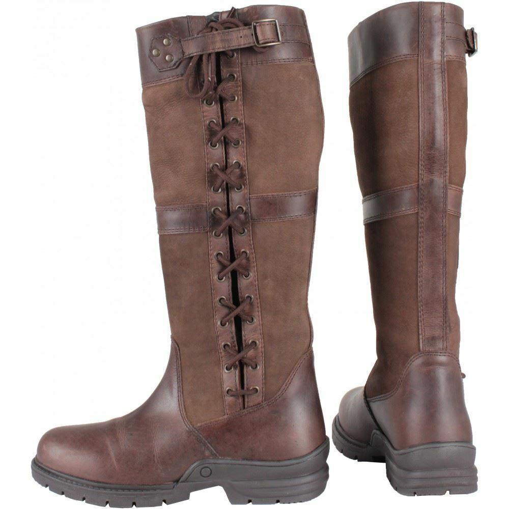 Horka Midland Waterproof Equestrian Country Leather Stiefel Rubber Sole, Unisex