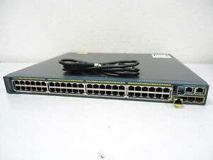 CISCO-Catalyst-2960-WS-C2960S-48FPS-L-Managed-Ethernet-Switch-48-Port