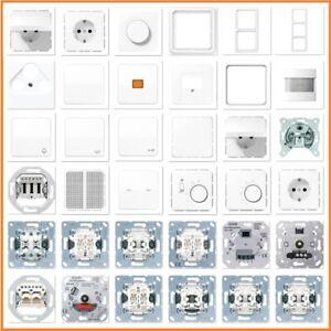 JUNG Serie LS990 LS 990 WW Alpinweiß Weiß USB Steckdose Rahmen Schalter Wippe