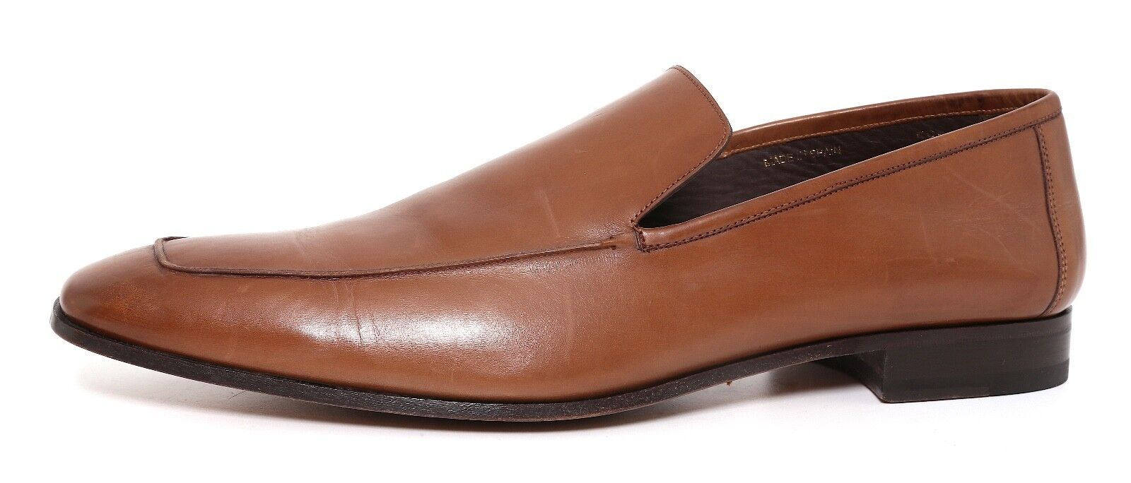 Mezlan Square Toe Slip On Leather Loafer Brown Men Sz 11.5 M 3211