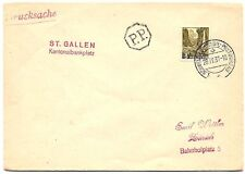 Schweiz 3 Rappen Drucksache Stempel 1. Schweizer Mobil Postbüro 1937 (57)