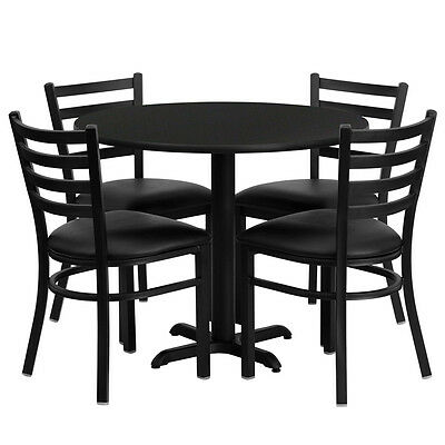 Restaurant Table Chairs 30 Black