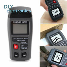 Handheld Wood Moisture Test Meter Digital Lcd Log Timber Damp Tester Detector Us
