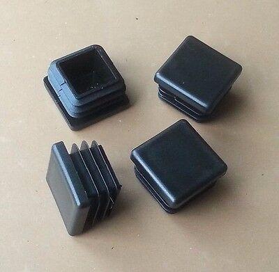 "8 Square 1-1//2/"" 1.5/"" 11-16 Ga Black Tubing Tube End Plugs Plastic Insert Caps"