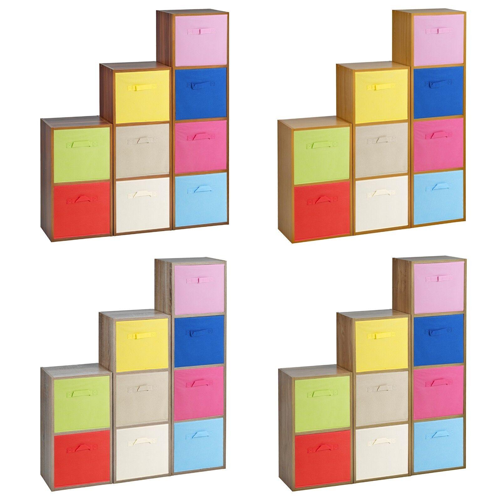 9 étagère Cubed Bois Placard Rangement Unités étagères avec 9 Insert Tiroir
