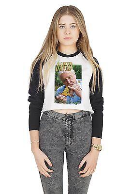 Sir David Attenborough cultivo Raglán Camiseta Camiseta Top recortada Tumblr Retro años 90 BAE