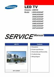 Samsung Un32j6300 Un32j6300af Un32j6300afxza Smart Led Tv Service Manual Ebay