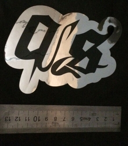 jetski wake Sticker Quakysense Black//Miror PWC 11cm x 13cm