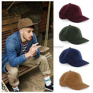 17e4b79e53943 Herren-Accessoires Beechfield Cord Cap Mens Adults Summer Corduroy Hat