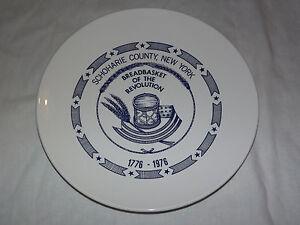 VINTAGE 1776-1976 SCHOHARIE COUNTY NY BREADBASKET OF REVOLUTION COLLECTOR PLATE