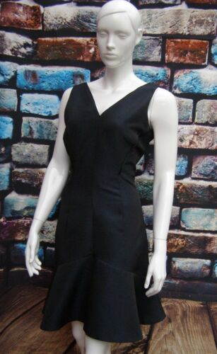 Black Coast 12 Textured Dress Hem Blue Shift Size Peplum OqdZqUrw