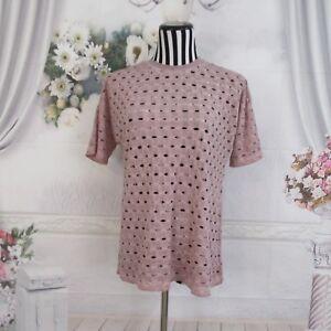 ASOS-Pink-Short-Sleeve-Polka-Dot-Holes-Top-Shirt