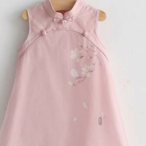 Kids Girl Chinese Cheongsam Dress Traditional Floral Tulle Princess Tang Costume