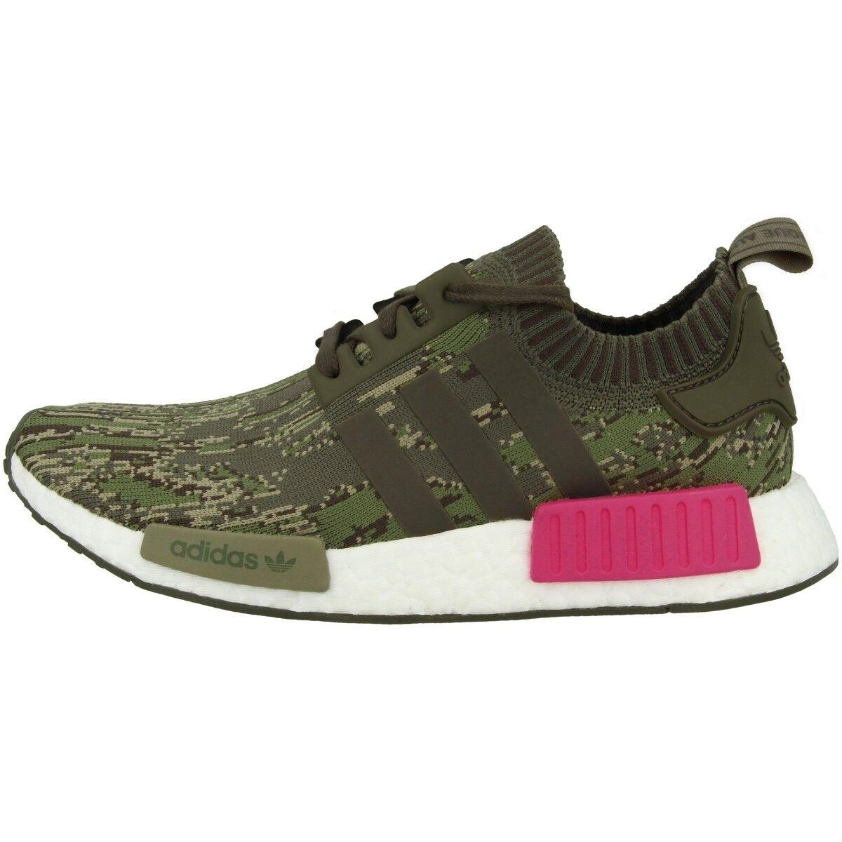 Adidas NMD_R1 Primeknit Schuhe Herren Freizeit Sneaker green utility Grau BZ0222
