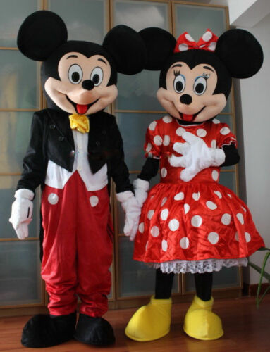 Mickey and Minnie Mouse Cartoon Adult Mascot Costume Party Clothing Fancy Dress