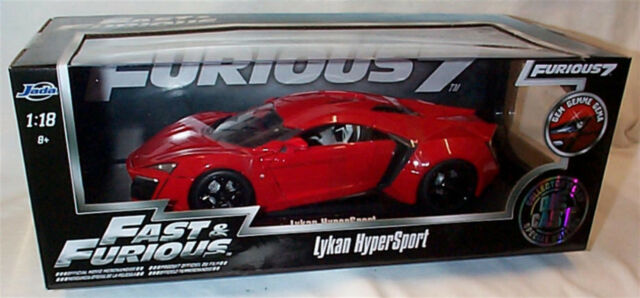 FAST & FURIOUS Lykan Hypersport 1/18 SCALE DIECAST OPENING FEATURES by JADA