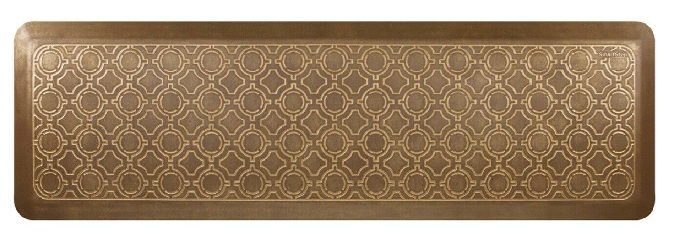 NEW Wellness Mats 66  x 20  Smart Step Moroccan BRUSHED oro Anti Fatigue Mat