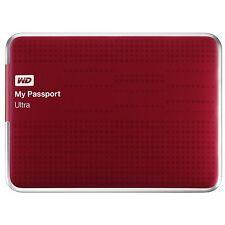 Western Digital My Passport Ultra 2TB USB 3.0 Portable External Hard Drive RED