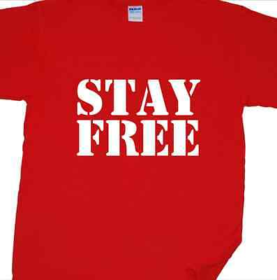 """stay Libero"" Punk Rock T-shirt Ispirata Dall' Interferenza (mick Jones, Joe Strummer)-"