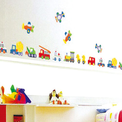duck car train airplane removable wall sticker home art decals boy