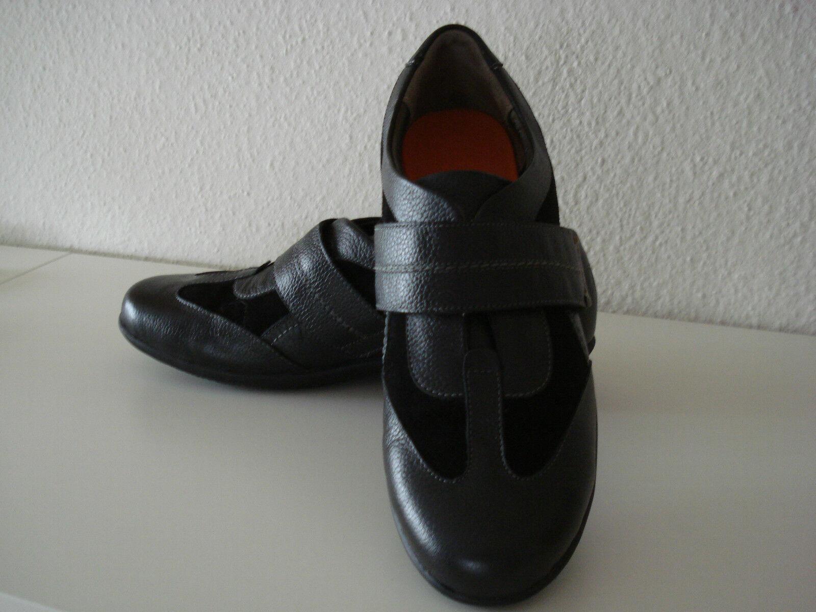 SCHOLL Fremont Halbschuh Schuh Sneaker Gr. 42 8 / 8 42 schwarz  Klettverschluß  NEU 5b45cf