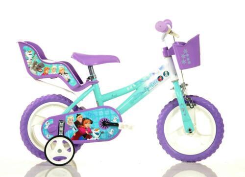 "Dino Disney Frozen Kids 12/"" Wheel Girls Single Speed Bike Bicycle Stabilisers"
