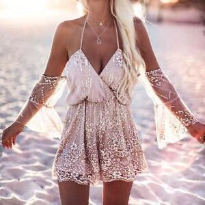 Las-mujeres-sexy-traje-de-playa-verano-mamelucos-pantalones-Bohemia-Shimmer
