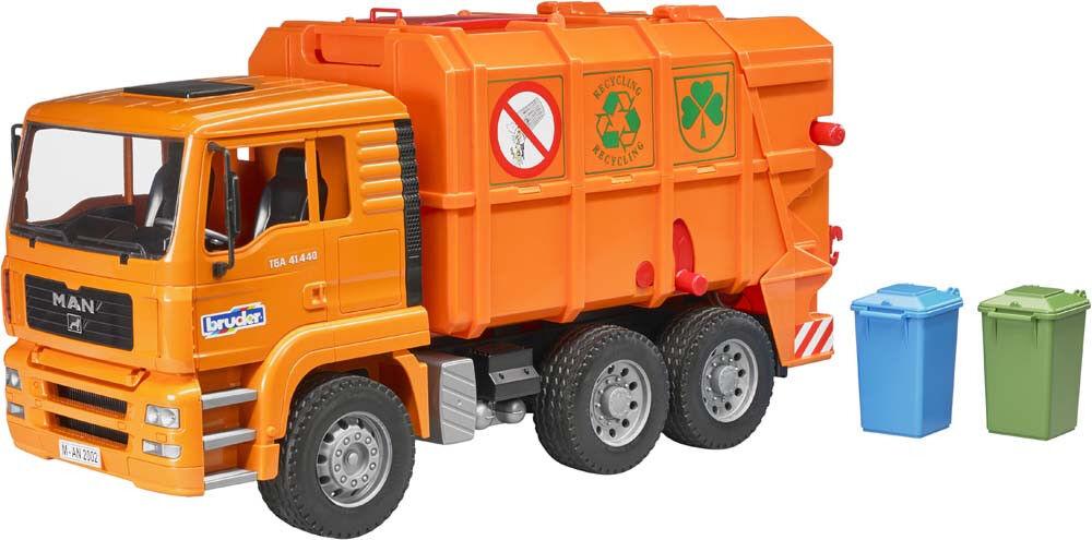 BRU2760 - Camion 6x4 poubelle MAN MAN MAN TGA orange avec conteneurs jouet BRUDER - 1 16 a3f207