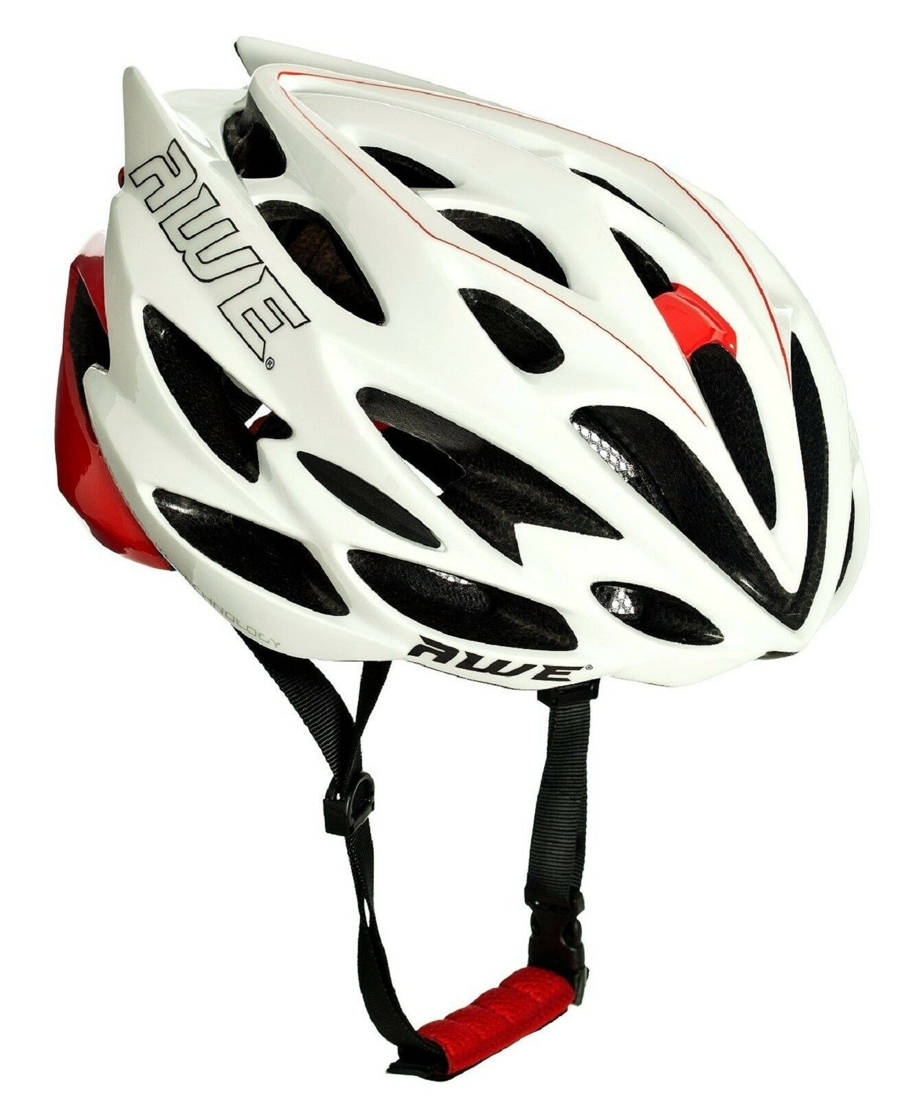 AWE AWESpeed™ InMould Mens Road Cycling Bicyle Helmet 56-58cm White Red