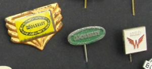 LOT 3 Vintage WOLSELEY LAPEL EMBLEM Jacket PIN Badge Car Classic