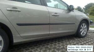 Body-Side-Mouldings-Door-Molding-Protector-4-pcs-Trim-for-Volvo-V60-2010