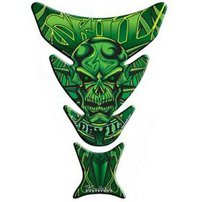 Keiti Universal Motorcycle Skull Devil Green Fuel Tank Pad Protector KT8020G