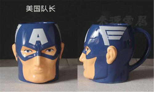 Cool 3D Spiderman Captain America Shape Mug Anniversaire Cadeau Céramique Café TEA CUP