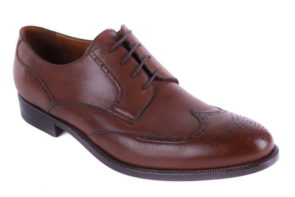 Alexander Chaussures Hommes Véritable Cuir Marron Taille 41 Promouvoir La Production De Fluide Corporel Et De Salive