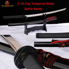 Japanese Samurai KATANA Clay Tempered Blade Battle Ready Sharp Handmade Sword