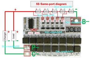 5s-Cells-18-5V-21V-60A-Li-ion-Lithium-18650-Battery-BMS-Protection-Balance-Board