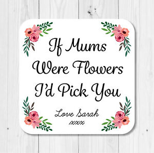 Number One Mum Mothers Day Birthday Gift Wooden Drinks CoasterMat Present