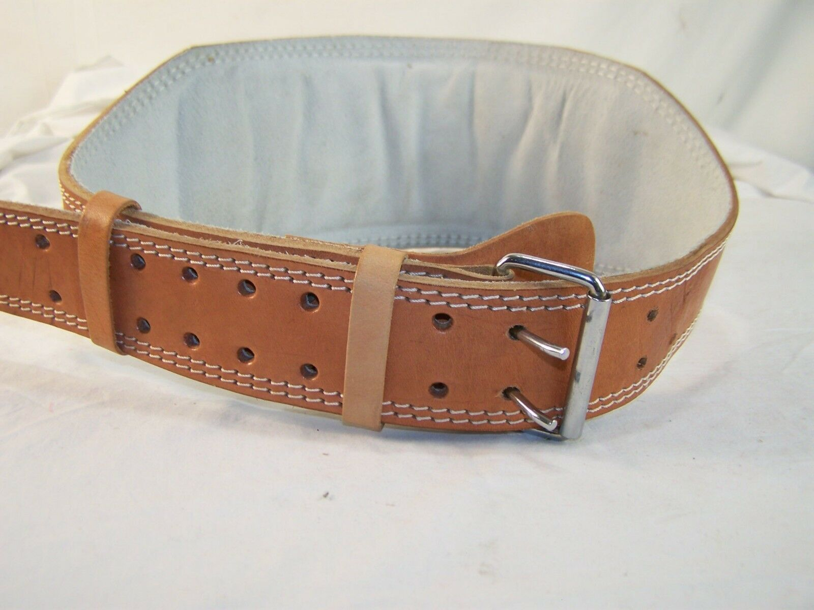 Vintage Heavy Duty Leather 6   Weight Lifting Belt - XL  46   best quality