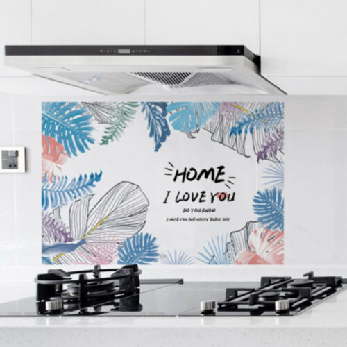 Kitchen Self Adhesive Stove Cabinet Stickers Oil Proof Waterproof  Wall Sticker