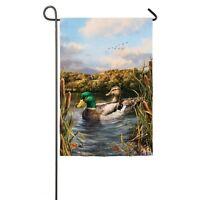 Mallard Ducks On The Pond Great Outdoors Fall Small Garden Flag