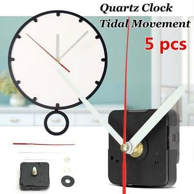 5x Long Hands Quartz Black Wall Clock Spindle Movement Mechanism Repair Part US