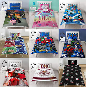 Exceptional Image Is Loading Childrens Characters Single Bed Quilt Duvet Cover Amp