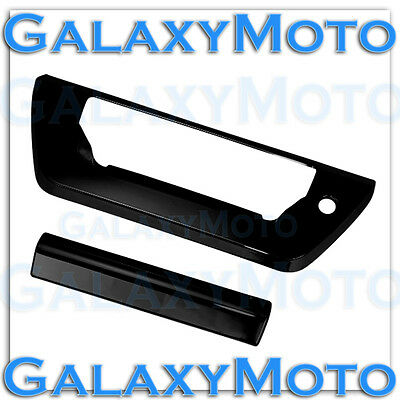 2015-2016 FORD F150 Gloss Black Tailgate Door Handle Cover+W/Lamp Light Hole